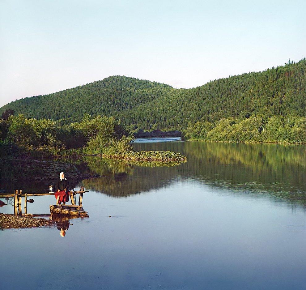 Челябинская область. На реке Сим (приток Волги), 1910 год