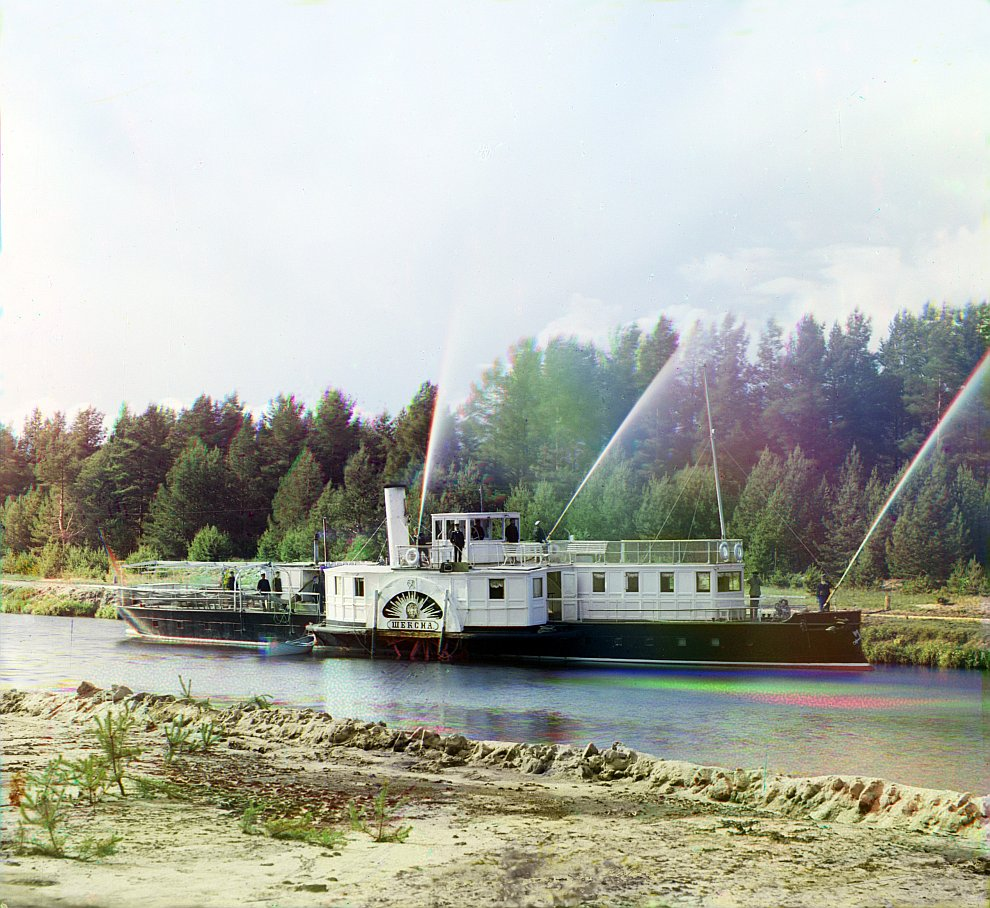 Ленинградская область. Пожарная тревога на пароходе «Шексна», 1909 год