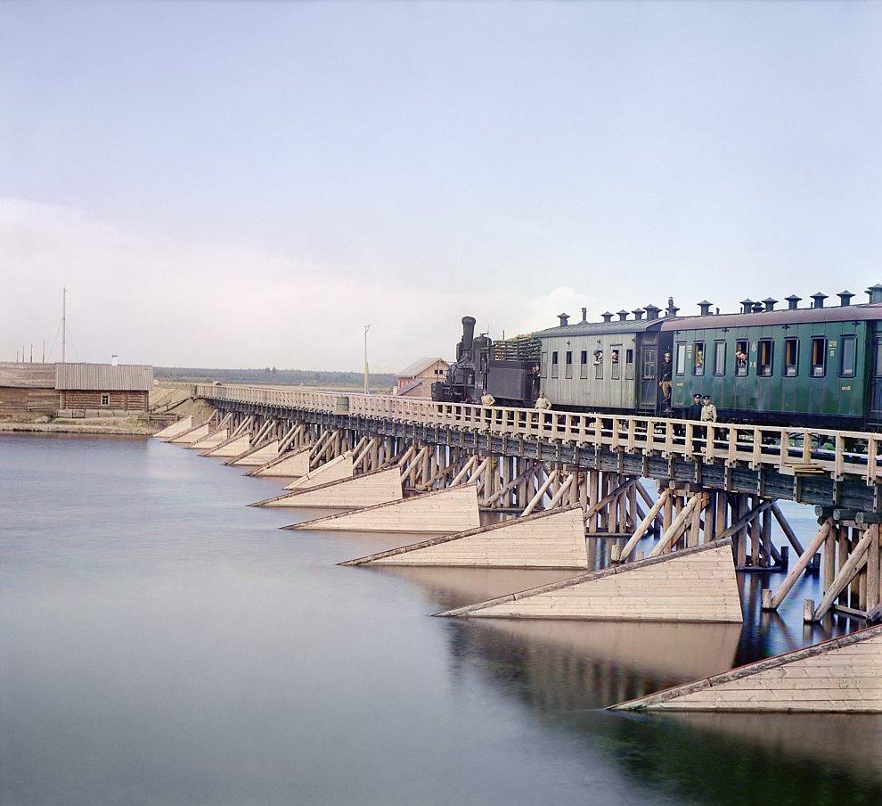 Республика Карелия. Железнодорожный мост через реку Шую, 1916 год