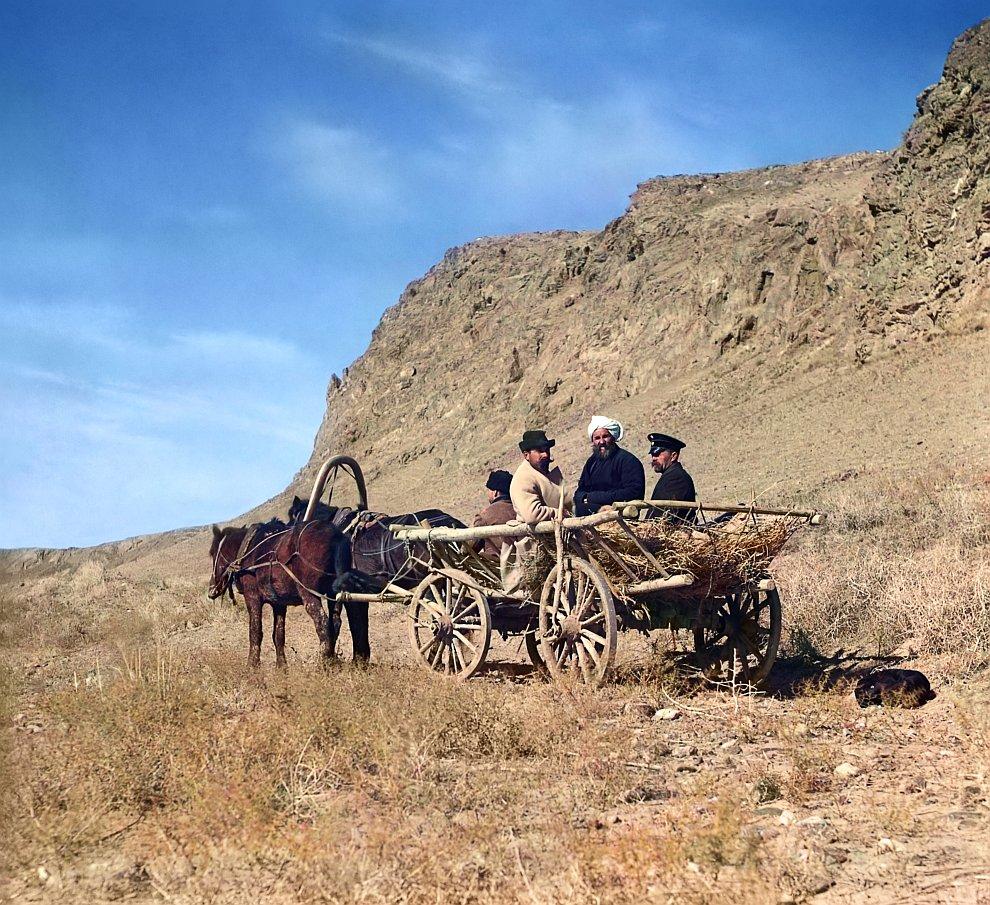Узбекистан, Голодная Степь. На работе у верховья Сыр-Дарьи, 1915 год