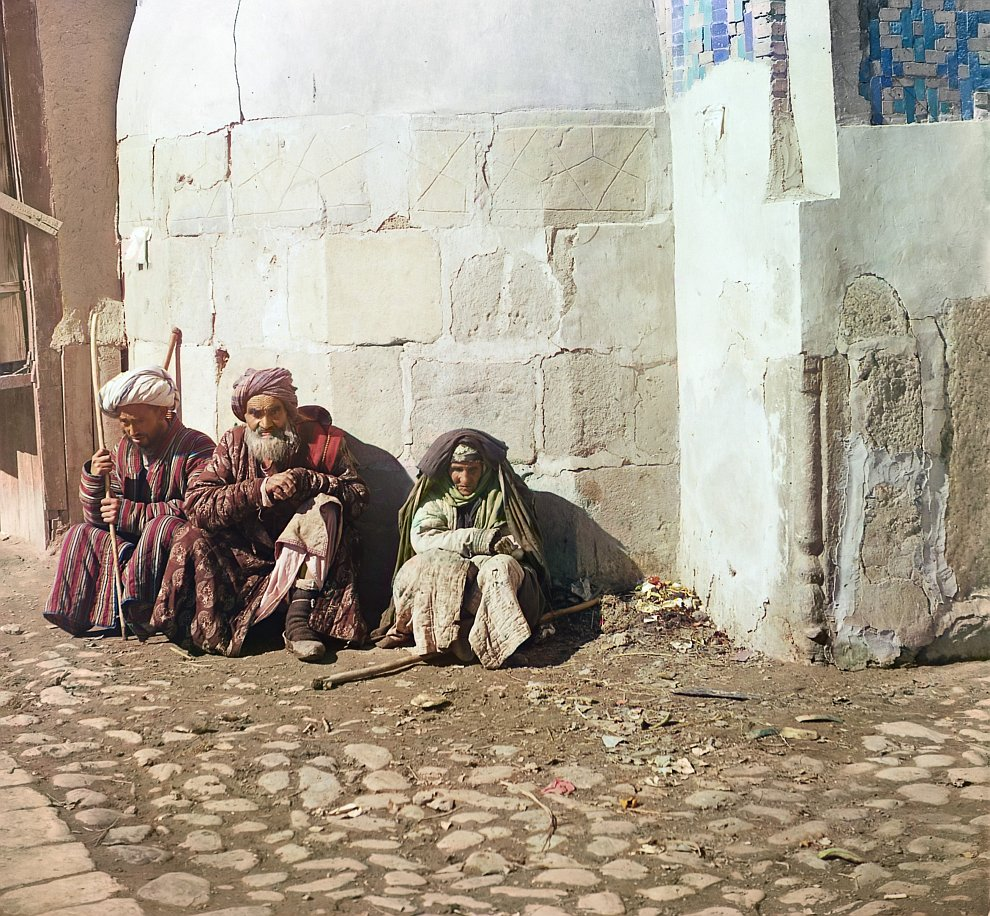 Узбекистан, Самарканд. Попрошайки образца 1915 года