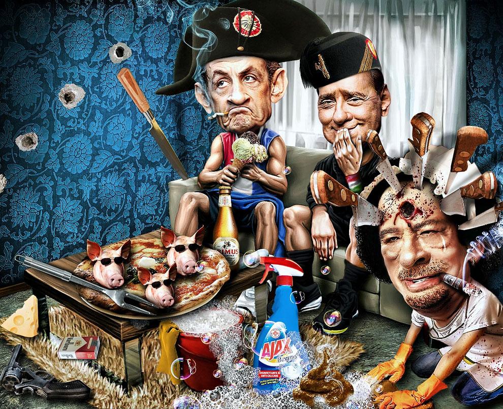 Смешные карикатуры от Риккардо Босколо