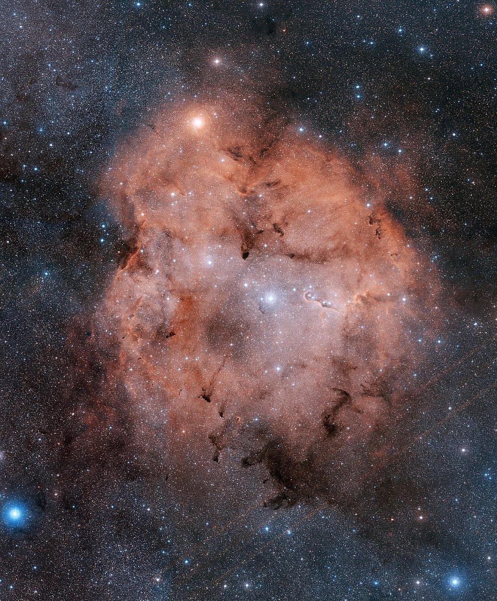 Эмиссионная туманность в созвездии Цефей