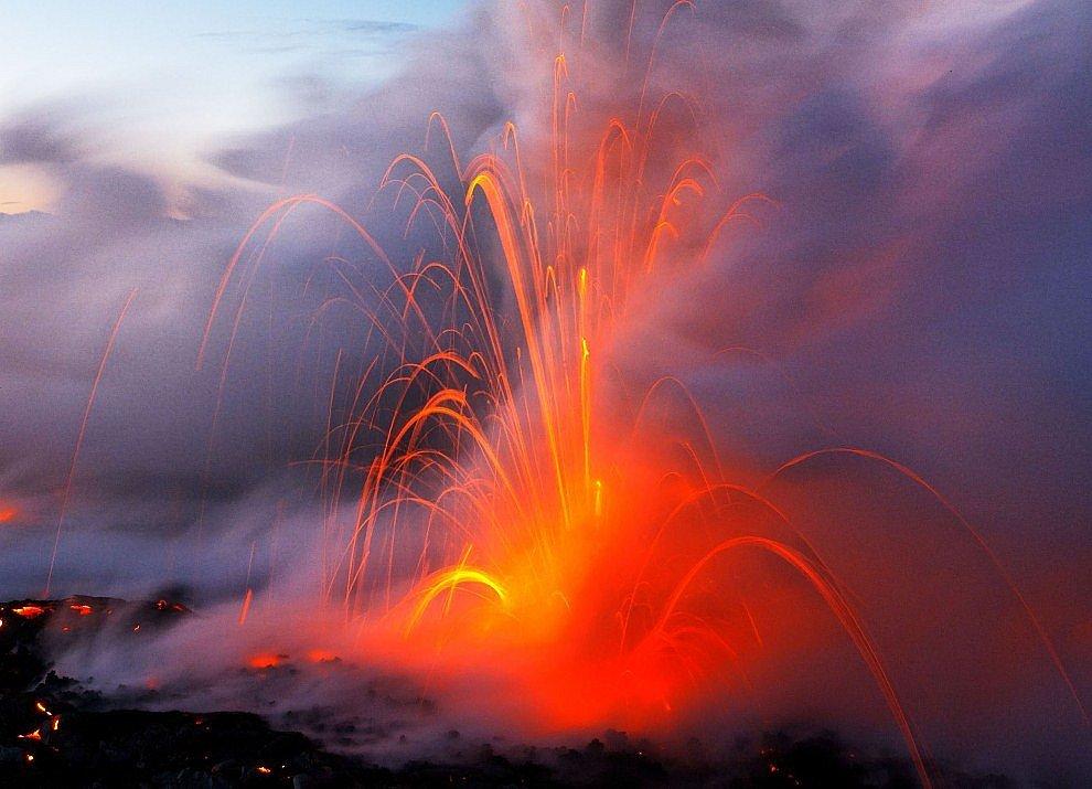 Извержение вулкана на Гавайях