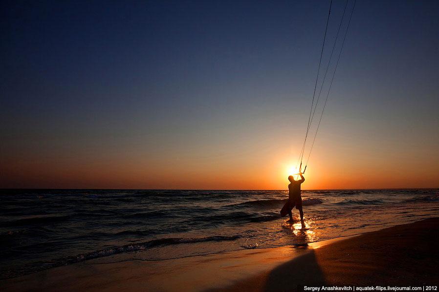 Кайтеры на крымском побережье