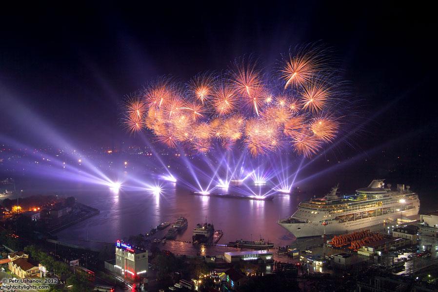 Лазерное шоу во Владивостоке