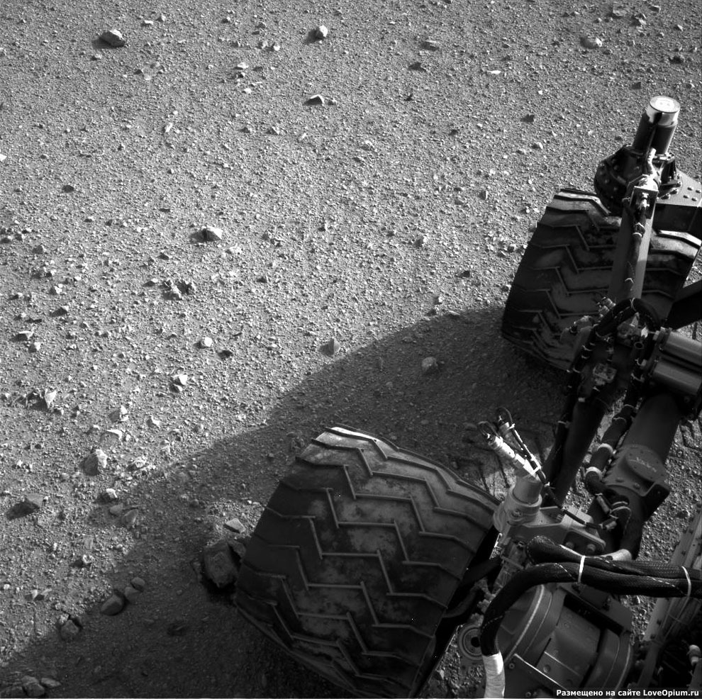 Колеса марсохода Curiosity
