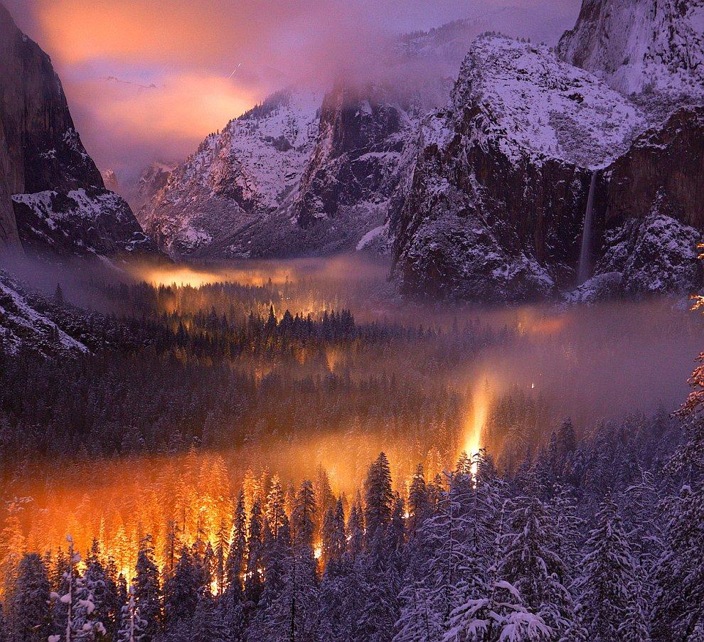 Закат в национальном парке Йосе?мити