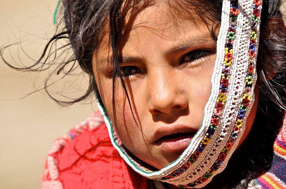 Портрет на школьной площадке в Священной Долине Инков