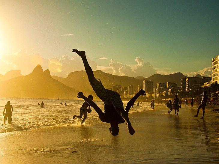 На пляже Ипанема, Рио-де-Жанейро
