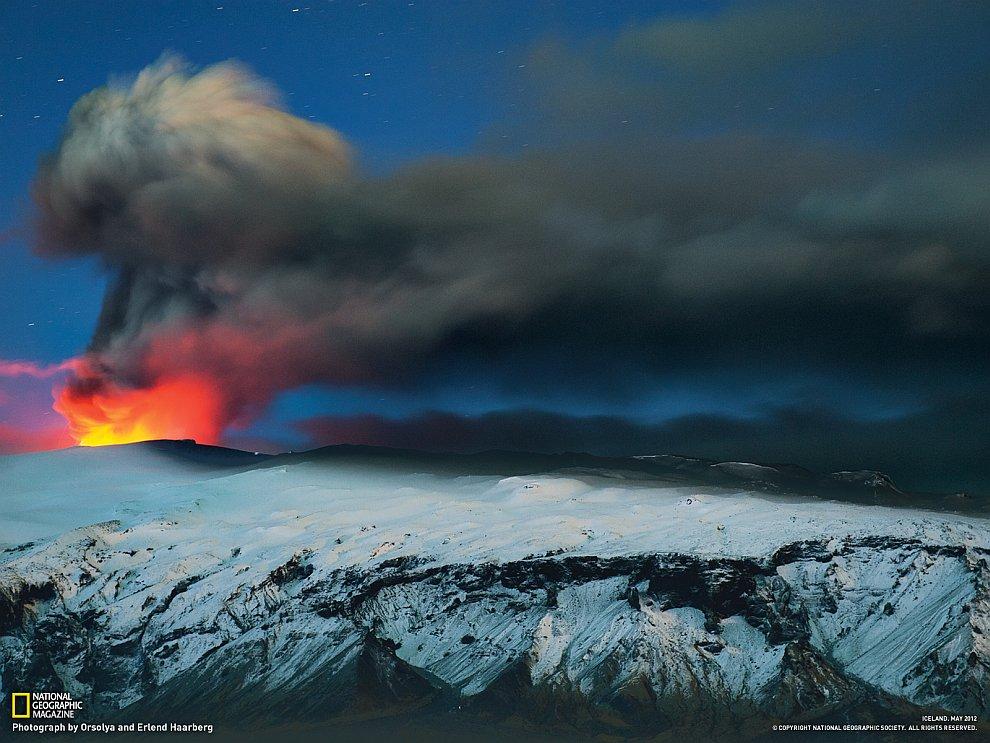 Вулкан Эйяфьядлайёкюдль, Исландия