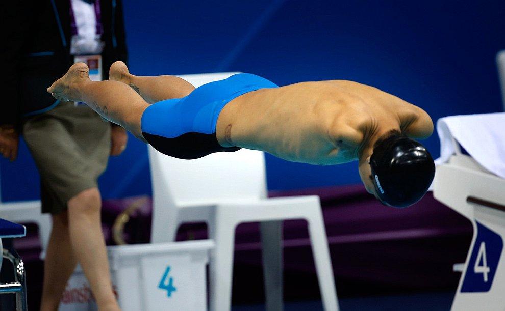 Паралимпийский заплыв на 50 метров