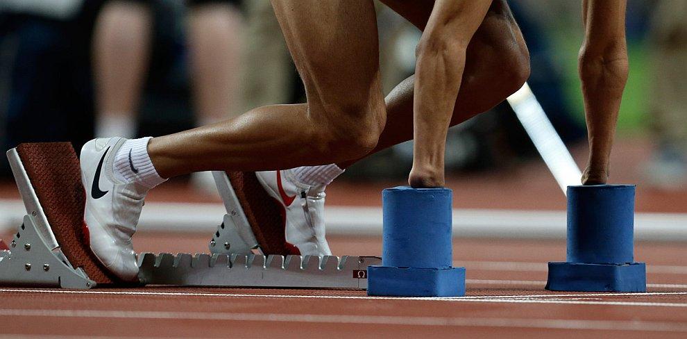 Финал бега на 400 метров