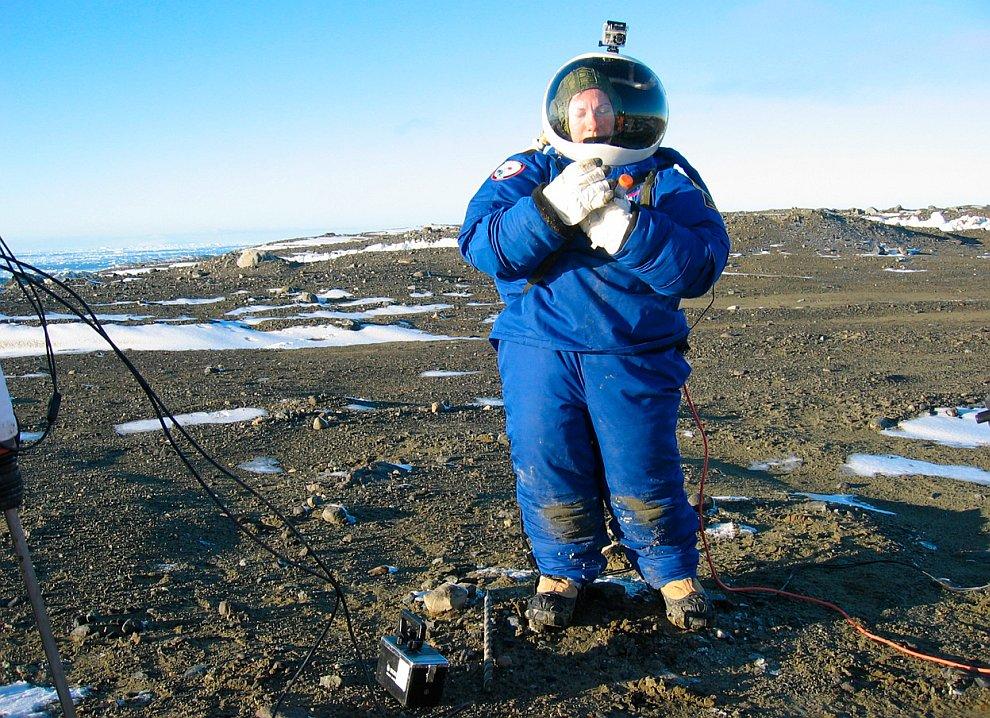 Испытания прототипа марсианского скафандра
