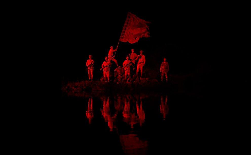 Театральная постановка сражения Китайской Красной Армии