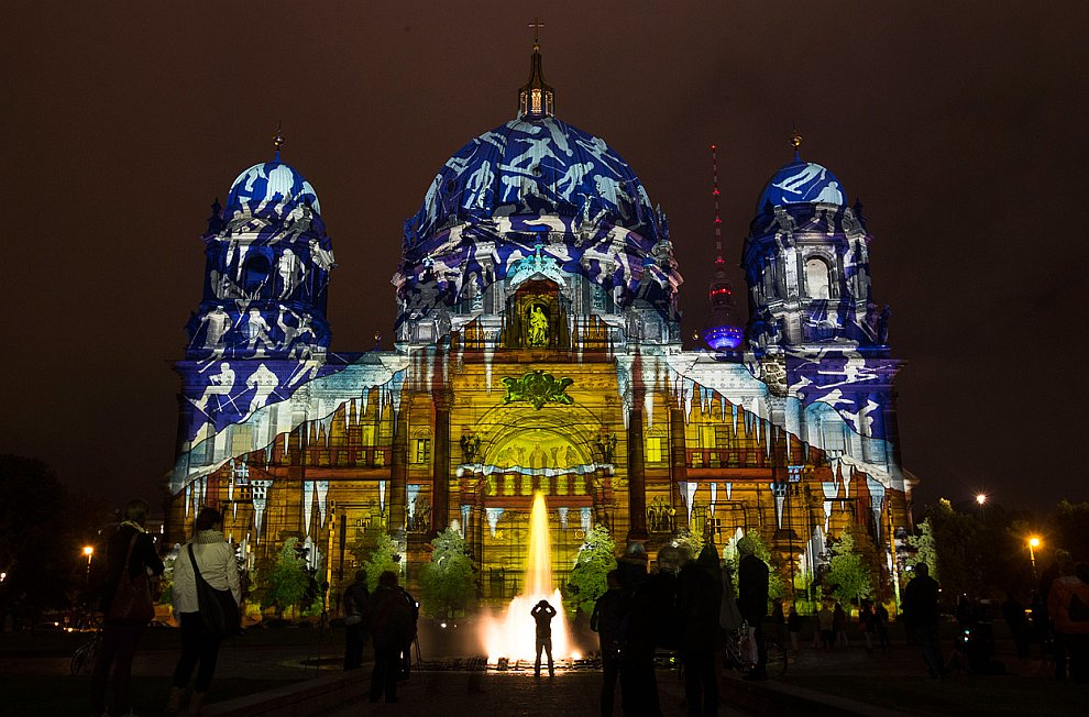 Ежегодный «Фестиваль света» в Берлине