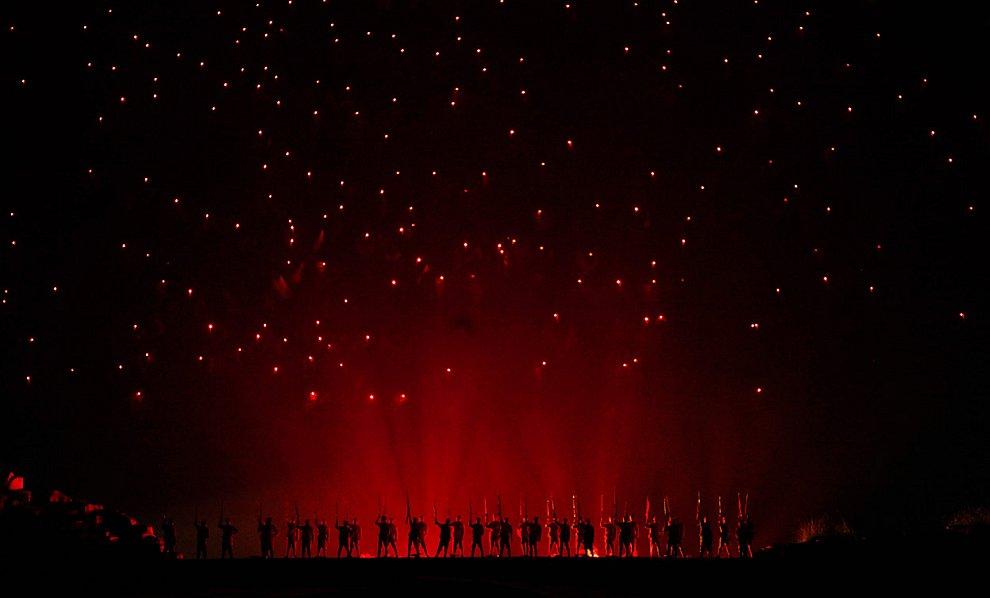 Театрализованная реконструкция действий Красной армии Китая