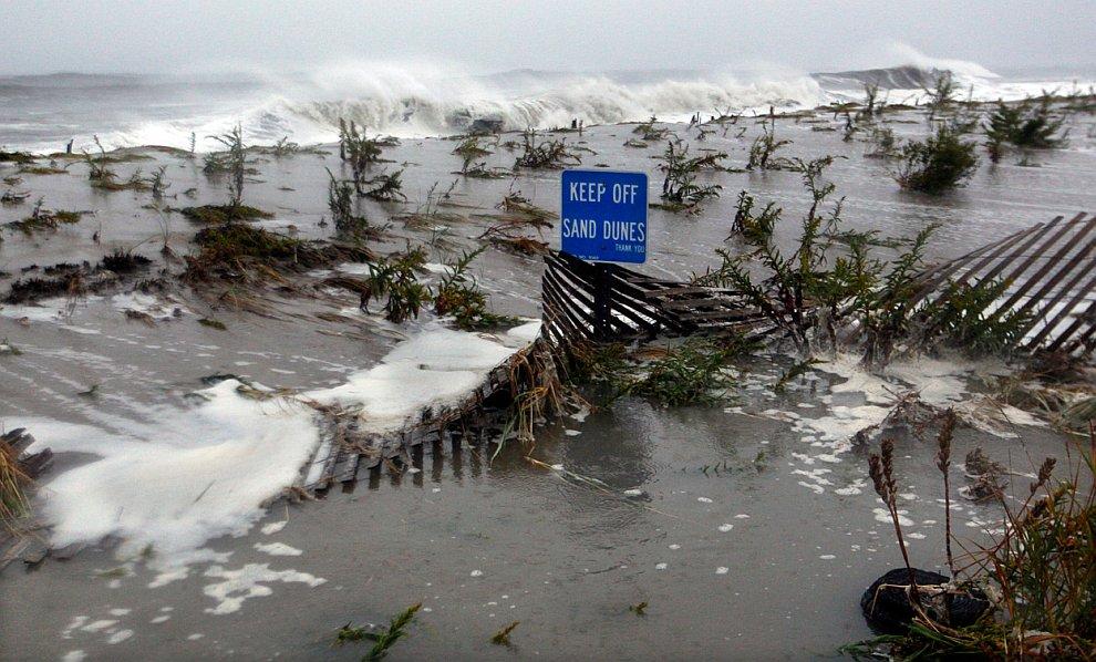 По пути урагана деревья продолжают падать, порывы ветра достигают 90 км/час