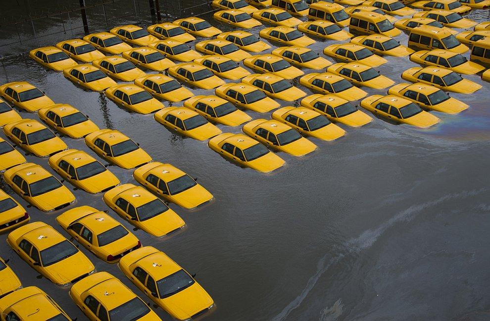 Стоянка такси в Хобокене, штат Нью-Джерси