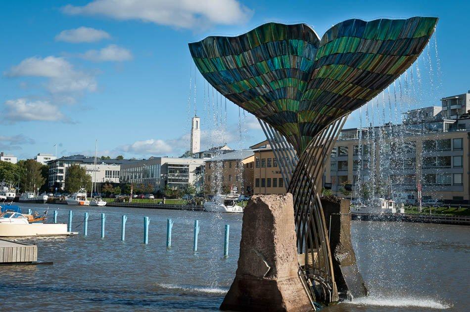 Город Турку в Финляндии
