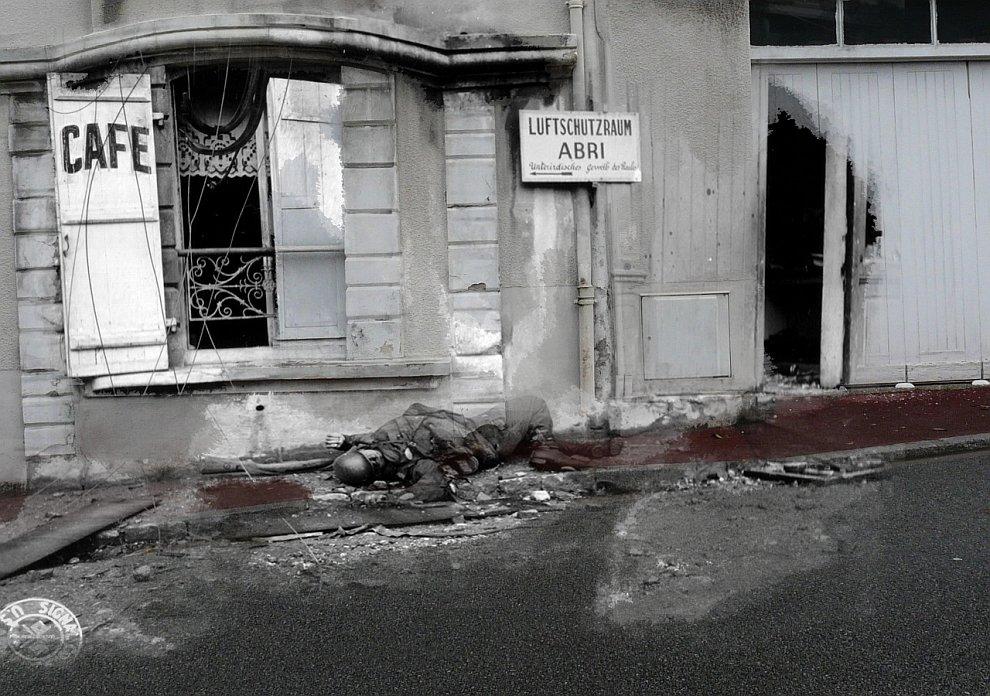 Шербур, Нормандия, Франция, 1944 год
