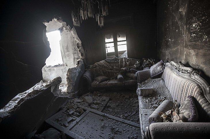 Руины города Алеппо в Сирии
