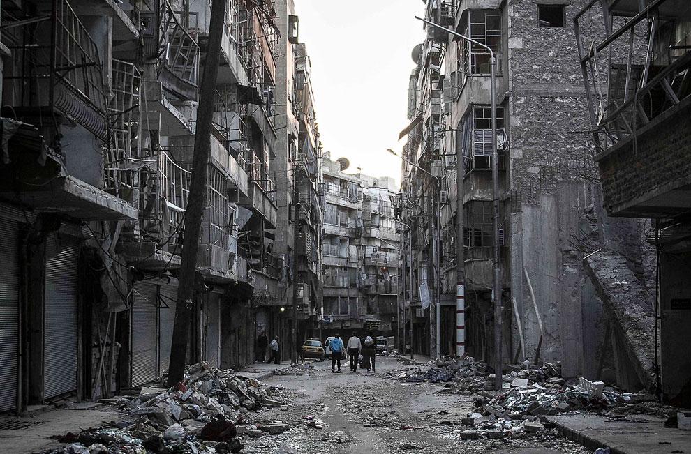 Сегодня Алеппо выглядит мрачно и печально