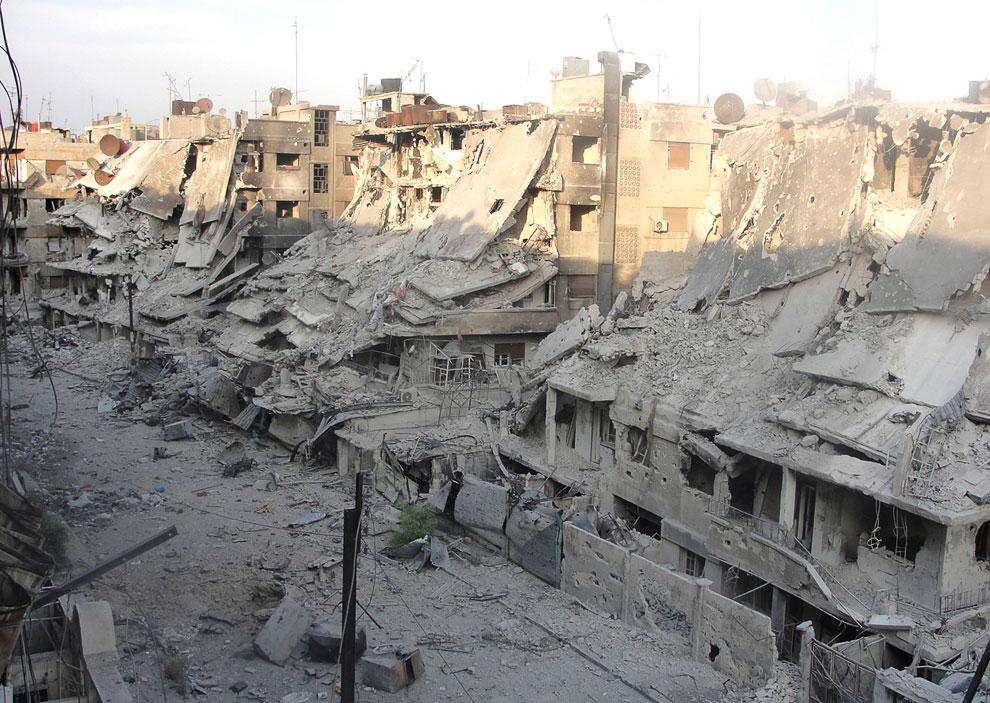 Город Хомс в Сирии выглядит не лучше