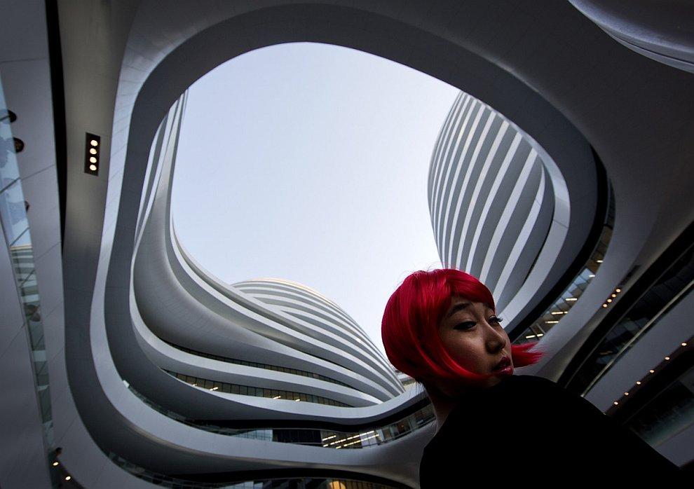 Недавно открытое в Пекине офисное здание Galaxy Soho