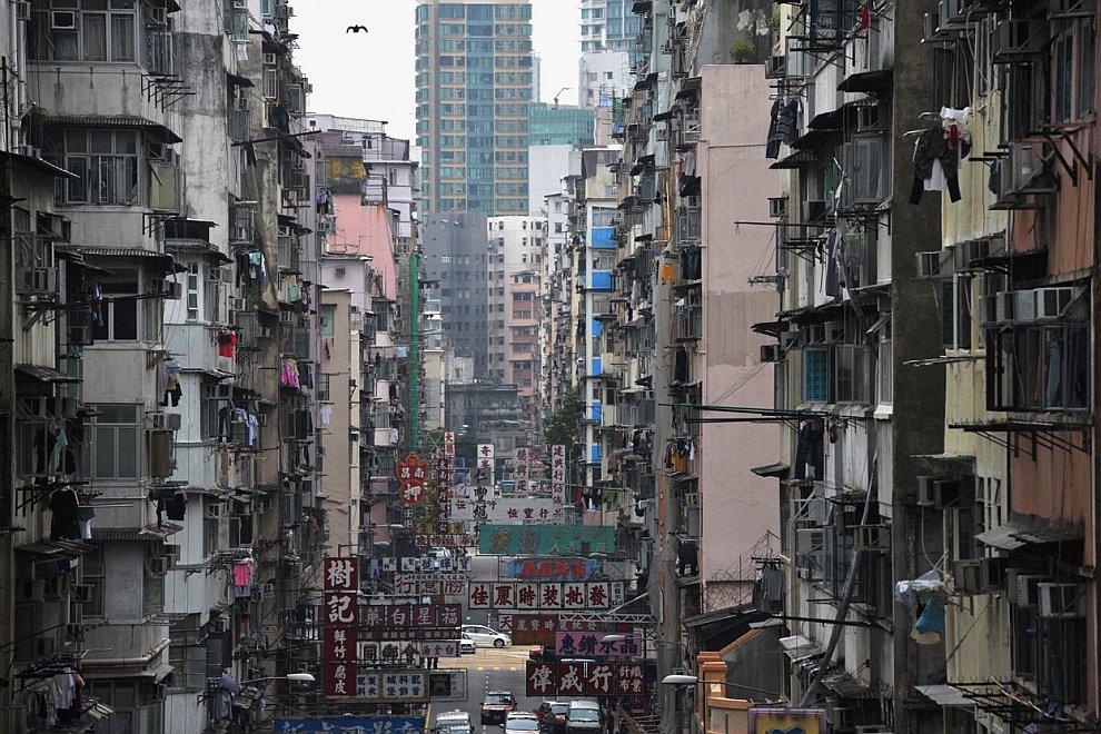 Жилые кварталы в Гонконге