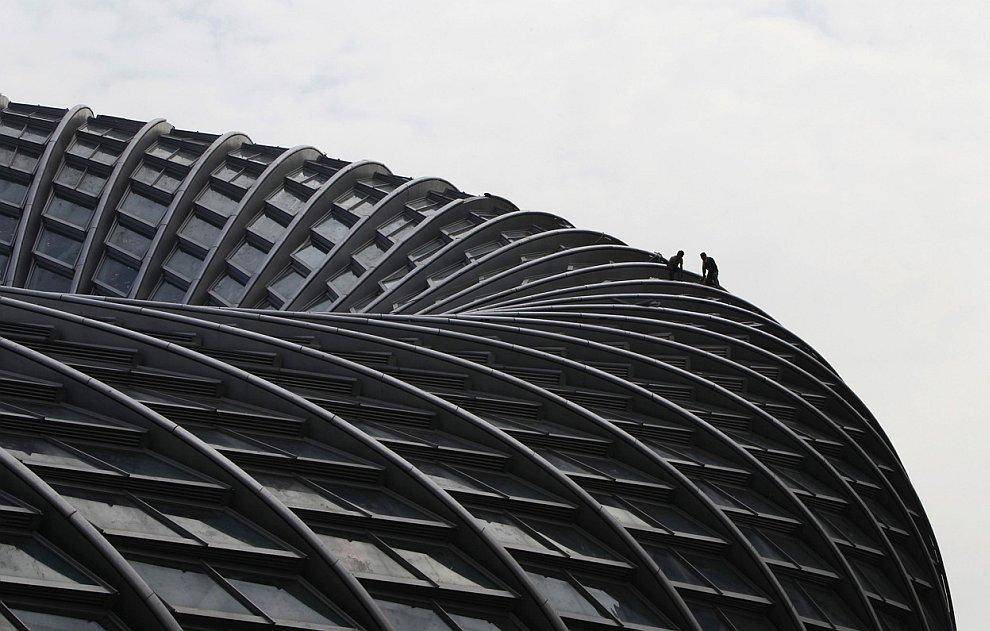 Строящееся здание в Пекине