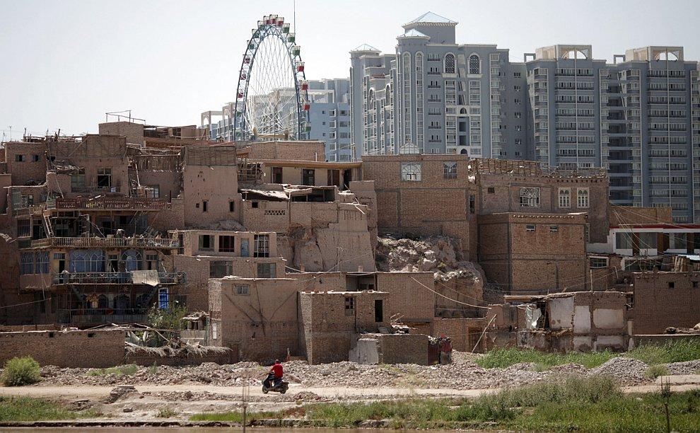 Старый центр. Городской уезд Кашгар в провинции Синьцзян