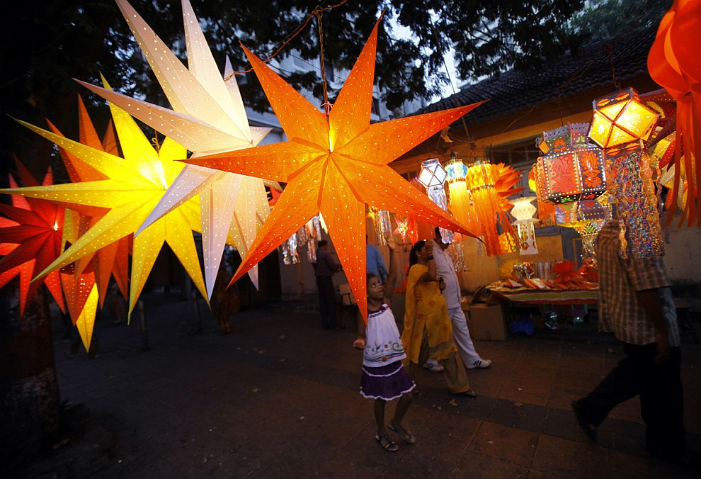 На улицах Мумбаи, Индия, 11 ноября 2012