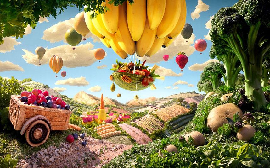 Банановый воздушный шар