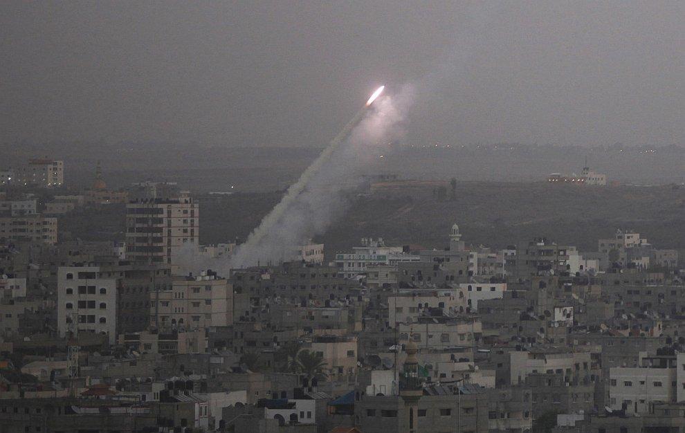 Ракета, запущенная из сектора Газа в сторону Израиля