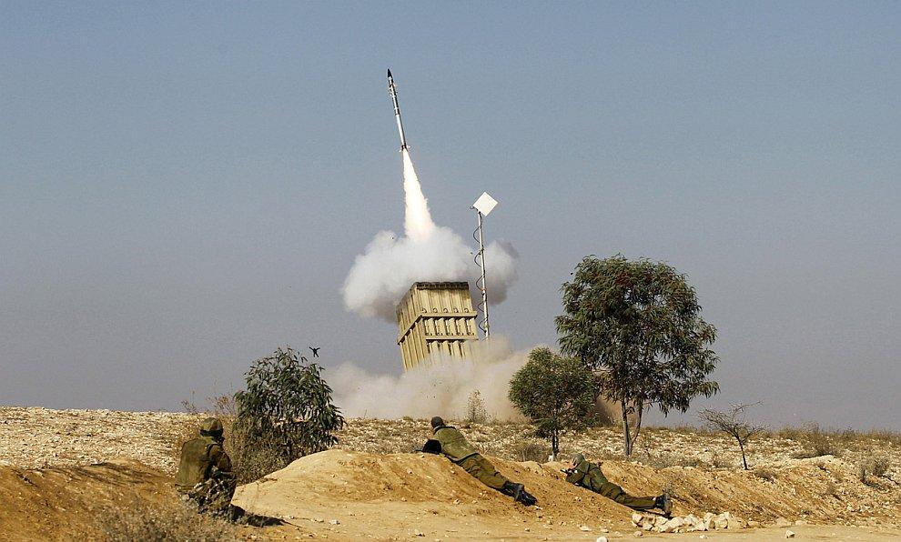 Так выглядит запуск ракеты из пусковой установки «Железного купола» вблизи