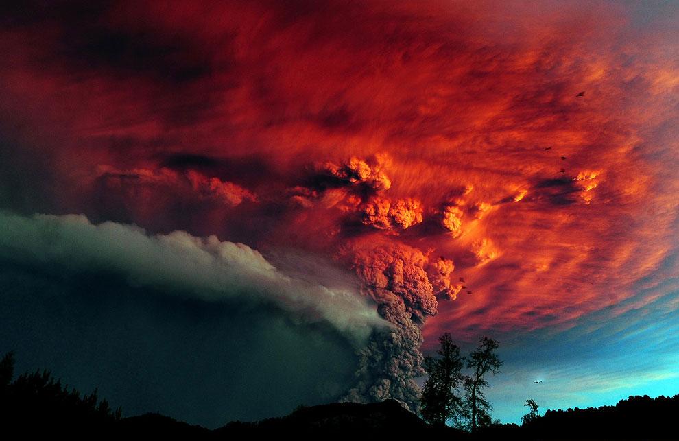 Извержение давно потухшего вулкана Пуйеуэ
