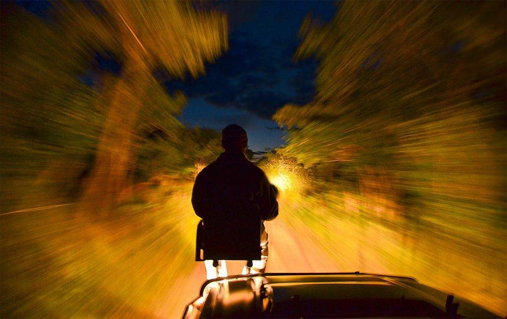 Необычная фотография ночной поездки в Южной Африке