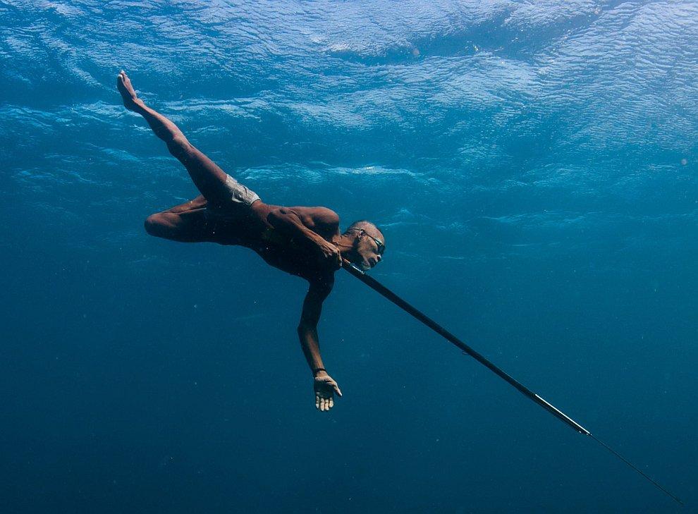 Рыбак с пикой