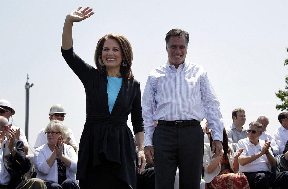 Митт Ромни и представитель Республиканской партии Мишель Бахман