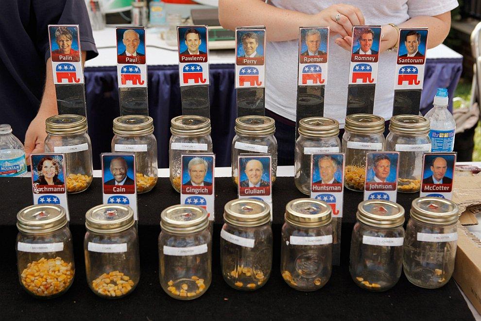 Кстати, вот так интересно голосовали избиратели за кандидатов от Республиканской партии в «кукурузном» штате Айова