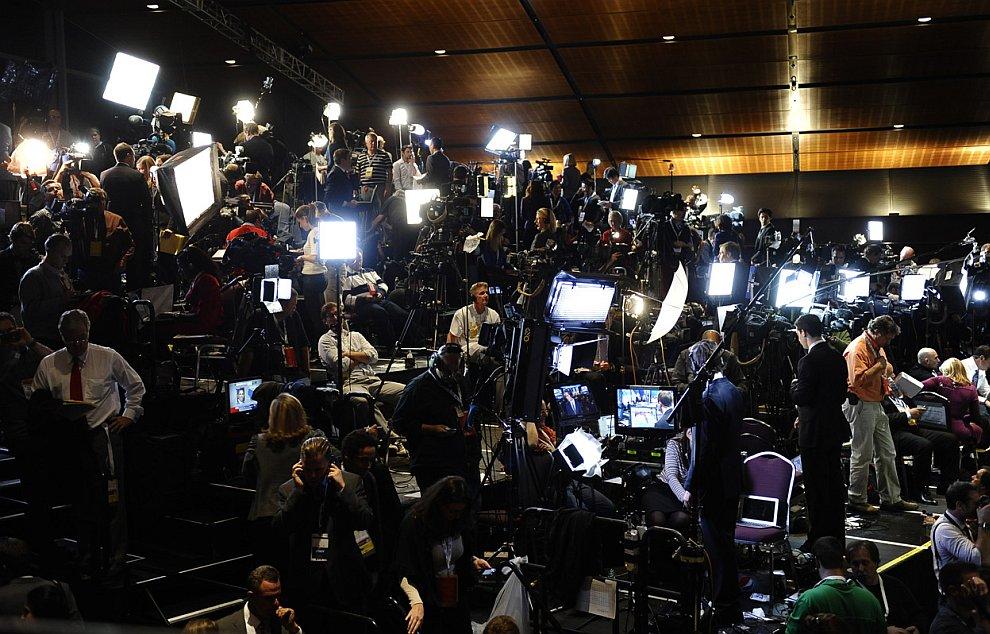 Пресса в ожидании результатов выборов, Бостон, 6 ноября 2012