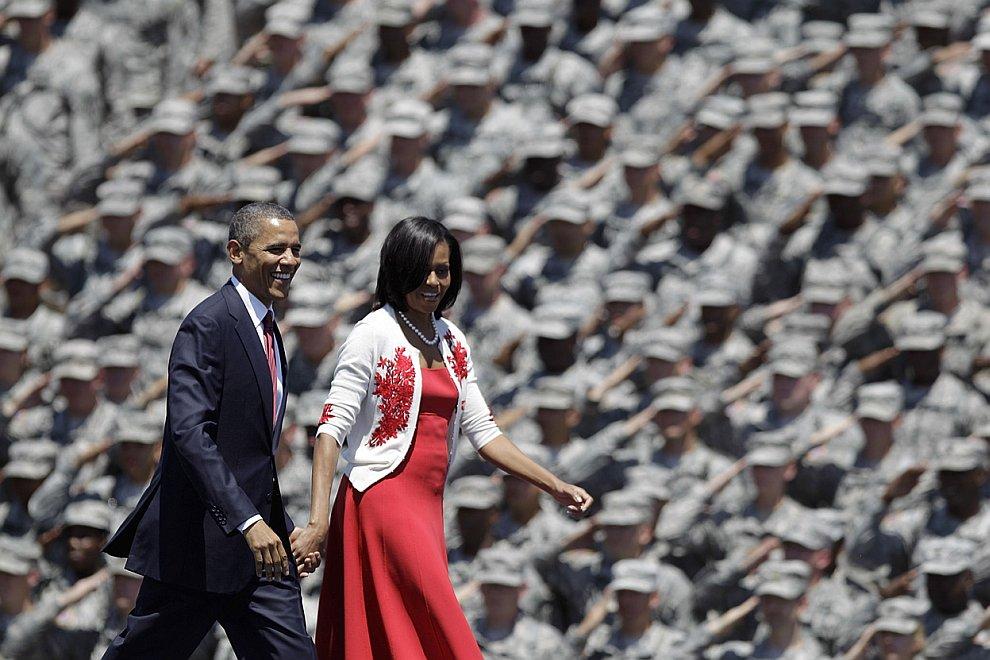 Президент США Барак Обама со своей женой