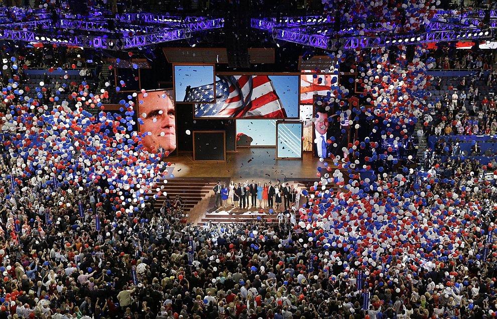 Заседание Республиканской партии во главе Миттом Ромни в штате Флорида