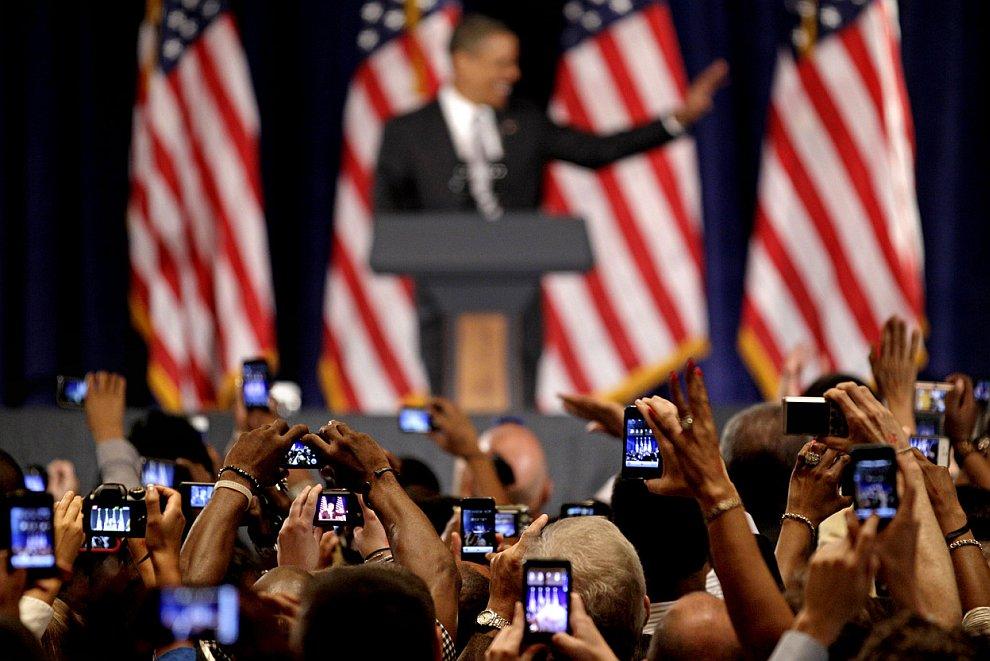 А это демократы во главе с Бараком Обамой в Атланте