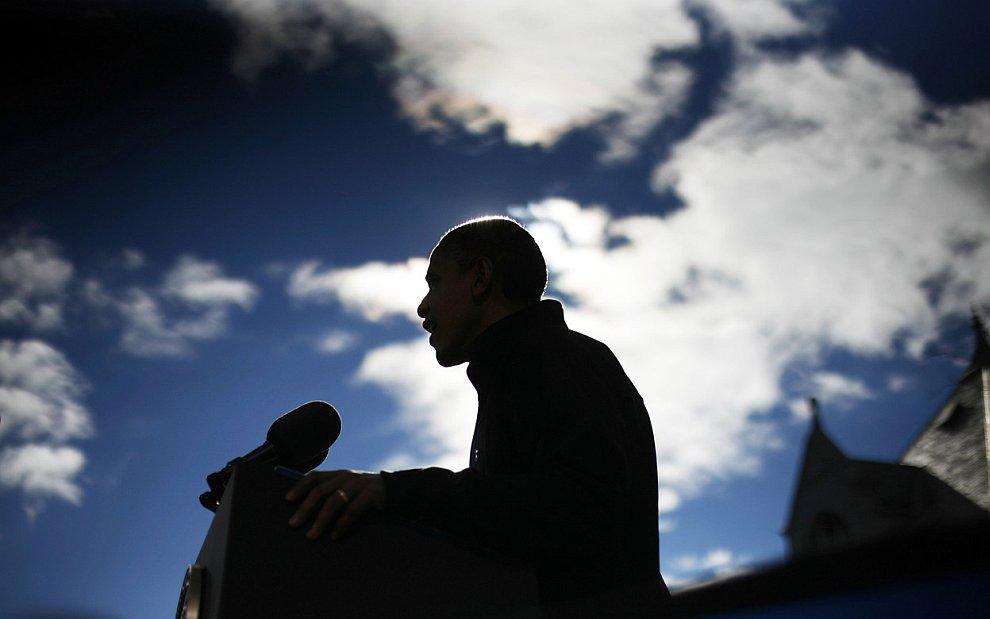 Барак Обама на предвыборном мероприятии в штате Нью-Гемпшир
