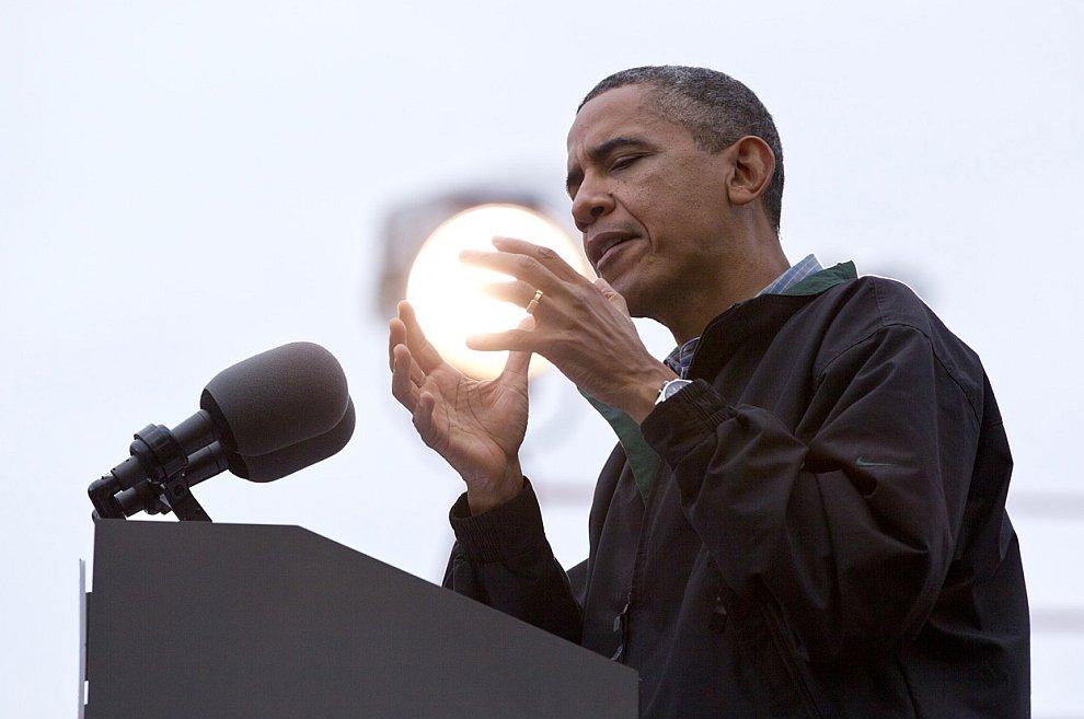 Барак Обама на предвыборном мероприятии в штате Айова