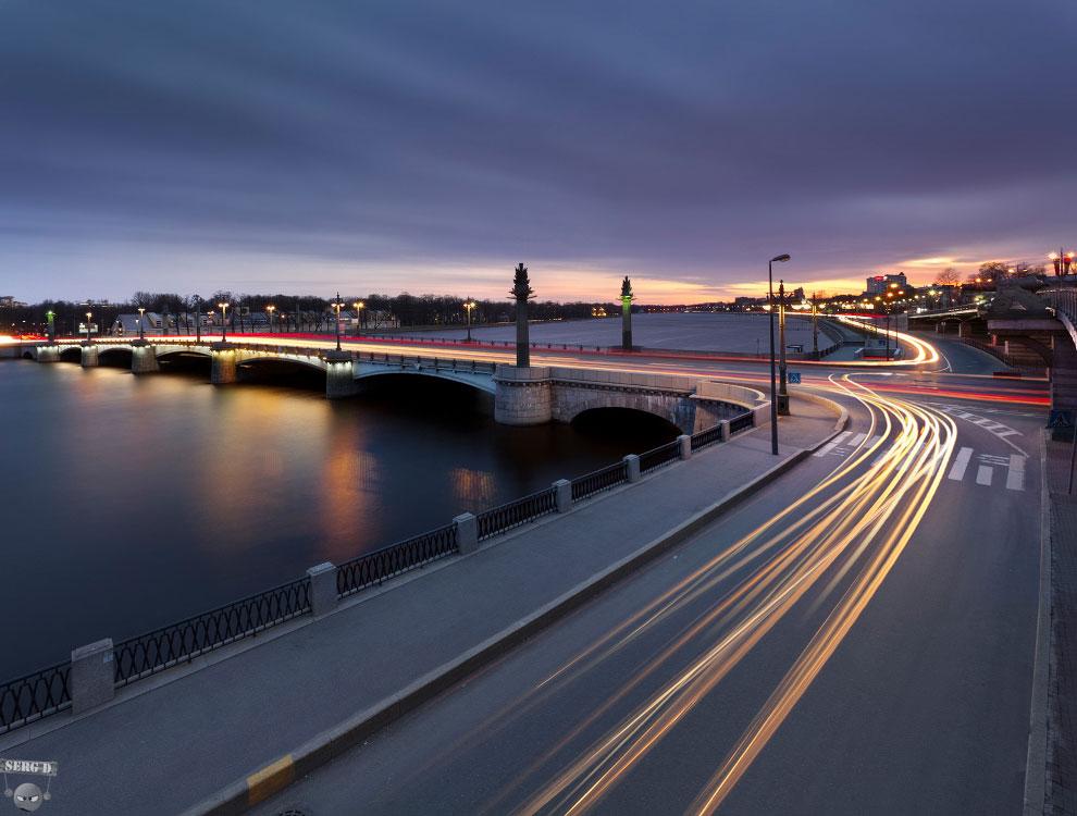 Ушаковский мост, река Большая Невка