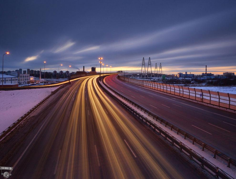 Кольцевая автомобильная дорога вокруг Санкт-Пете и Большой Обуховский мост