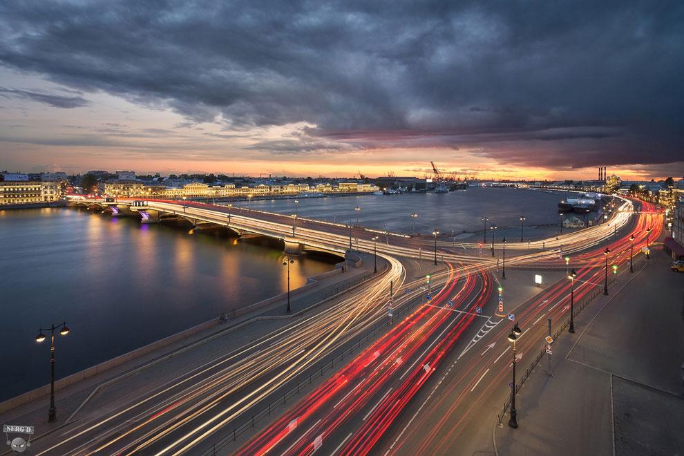 Благовещенский мост, площадь Трезини, Английская набережная